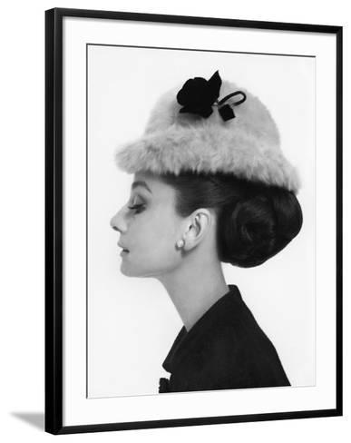 Vogue - August 1964 - Audrey Hepburn in Fur Hat-Cecil Beaton-Framed Art Print
