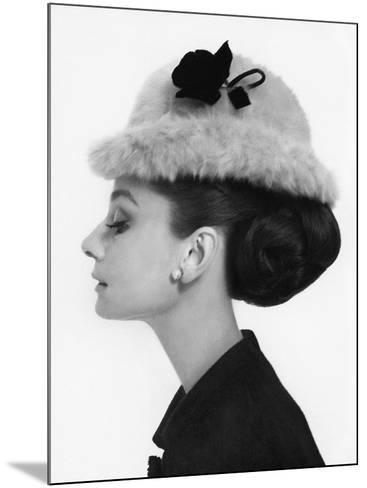 Vogue - August 1964 - Audrey Hepburn in Fur Hat-Cecil Beaton-Mounted Premium Photographic Print