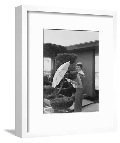 Vogue - April 1954-Karen Radkai-Framed Art Print