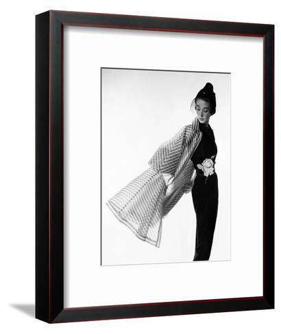 Vogue - April 1950 - Coat Flip-Cecil Beaton-Framed Art Print