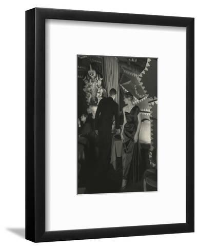 Vogue - October 1949-Donald Honeyman-Framed Art Print