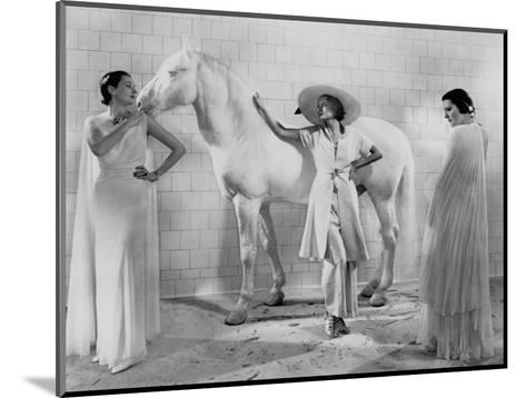 Vogue - January 1936-Edward Steichen-Mounted Premium Photographic Print