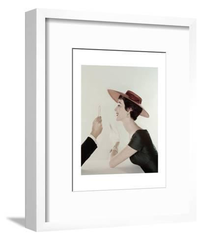Vogue - April 1954-John Rawlings-Framed Art Print