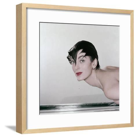 Vogue - May 1955-John Rawlings-Framed Art Print