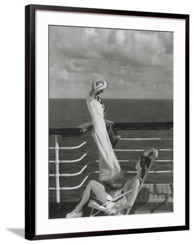 Vogue - July 1934 - Cruising to Hawaii-Edward Steichen-Framed Art Print