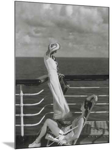 Vogue - July 1934 - Cruising to Hawaii-Edward Steichen-Mounted Premium Photographic Print