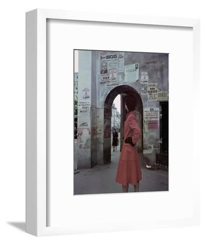Vogue - October 1946-John Rawlings-Framed Art Print