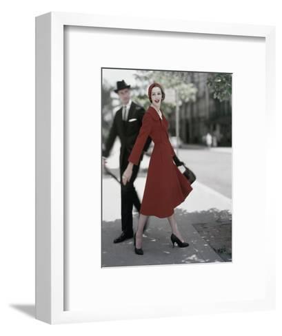 Vogue - October 1957-Karen Radkai-Framed Art Print