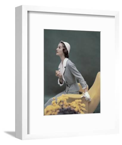 Vogue - March 1957-Karen Radkai-Framed Art Print