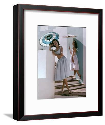 Glamour - April 1960-Frances Mclaughlin-Gill-Framed Art Print