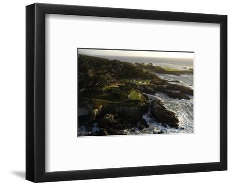 Cypress Point Golf Course, rocky coastline-J.D. Cuban-Framed Art Print
