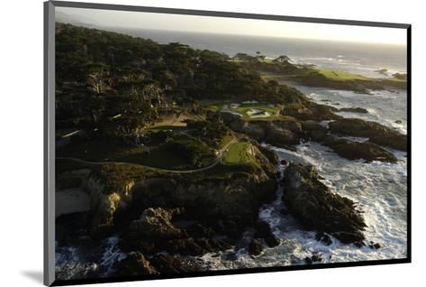 Cypress Point Golf Course, rocky coastline-J.D. Cuban-Mounted Premium Photographic Print