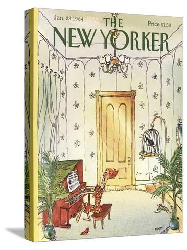 The New Yorker Cover - January 23, 1984-George Booth-Stretched Canvas Print