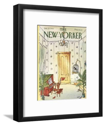 The New Yorker Cover - January 23, 1984-George Booth-Framed Art Print
