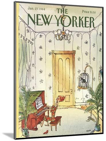 The New Yorker Cover - January 23, 1984-George Booth-Mounted Premium Giclee Print