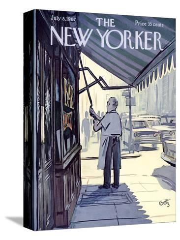 The New Yorker Cover - July 8, 1967-Arthur Getz-Stretched Canvas Print