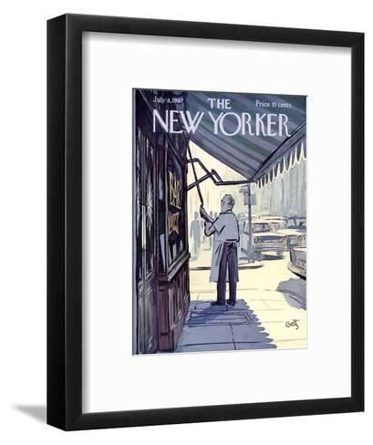 The New Yorker Cover - July 8, 1967-Arthur Getz-Framed Art Print