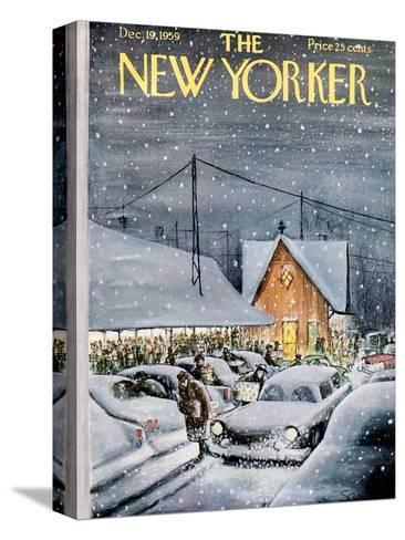 The New Yorker Cover - December 19, 1959-Charles Saxon-Stretched Canvas Print