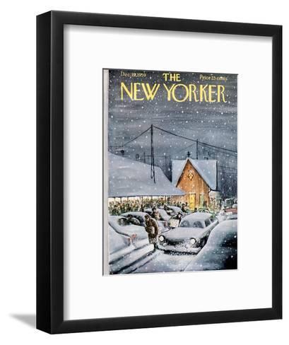 The New Yorker Cover - December 19, 1959-Charles Saxon-Framed Art Print