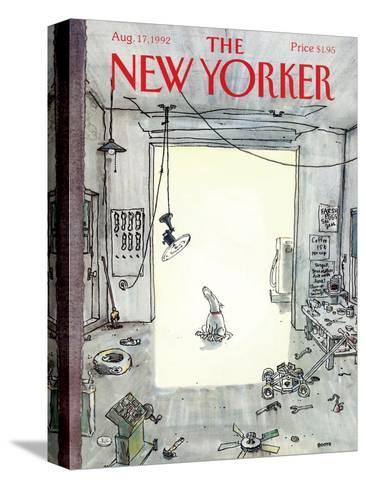 The New Yorker Cover - August 17, 1992-George Booth-Stretched Canvas Print