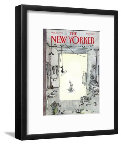 The New Yorker Cover - August 17, 1992-George Booth-Framed Art Print