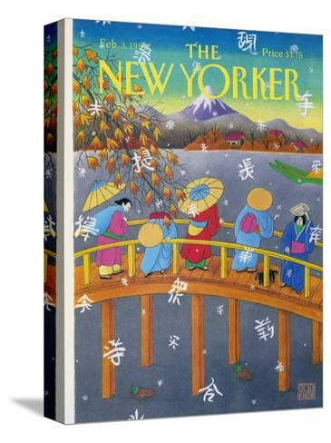 The New Yorker Cover - February 3, 1992-Bob Knox-Stretched Canvas Print