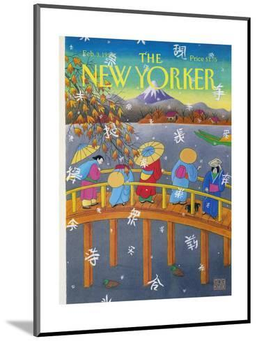 The New Yorker Cover - February 3, 1992-Bob Knox-Mounted Premium Giclee Print
