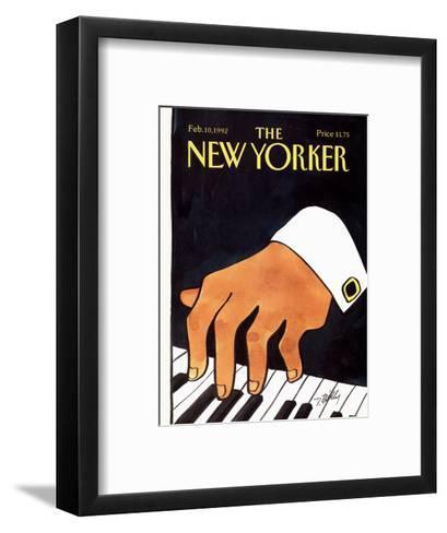 The New Yorker Cover - February 10, 1992-Donald Reilly-Framed Art Print