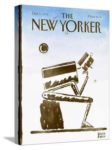 The New Yorker Cover - October 7, 1991-R.O. Blechman-Stretched Canvas Print