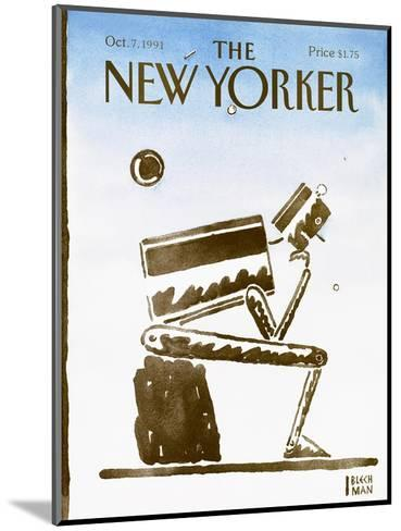 The New Yorker Cover - October 7, 1991-R.O. Blechman-Mounted Premium Giclee Print