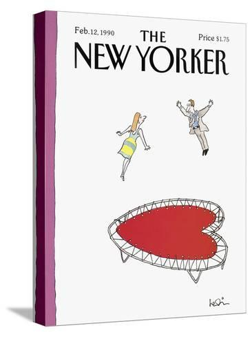 The New Yorker Cover - February 12, 1990-Arnie Levin-Stretched Canvas Print