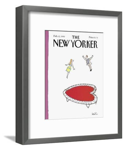The New Yorker Cover - February 12, 1990-Arnie Levin-Framed Art Print