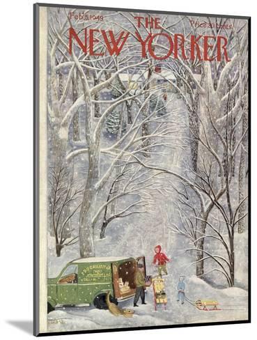The New Yorker Cover - February 5, 1949-Ilonka Karasz-Mounted Premium Giclee Print