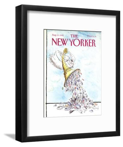 The New Yorker Cover - August 13, 1990-Ronald Searle-Framed Art Print