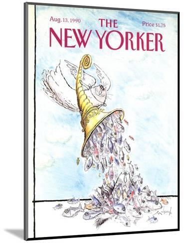 The New Yorker Cover - August 13, 1990-Ronald Searle-Mounted Premium Giclee Print