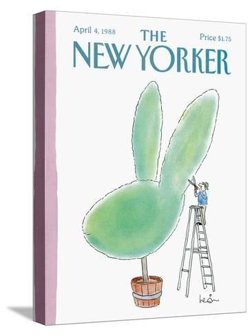 The New Yorker Cover - April 4, 1988-Arnie Levin-Stretched Canvas Print