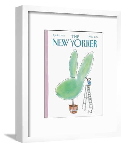 The New Yorker Cover - April 4, 1988-Arnie Levin-Framed Art Print