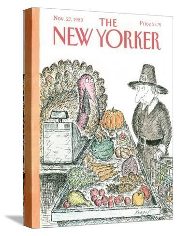 The New Yorker Cover - November 27, 1989-Edward Koren-Stretched Canvas Print