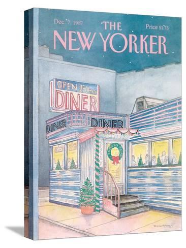 The New Yorker Cover - December 7, 1987-Iris VanRynbach-Stretched Canvas Print