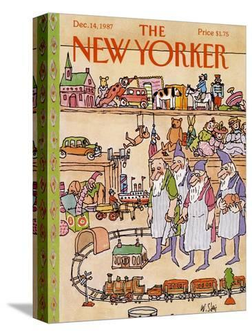 The New Yorker Cover - December 14, 1987-William Steig-Stretched Canvas Print