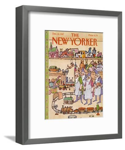 The New Yorker Cover - December 14, 1987-William Steig-Framed Art Print