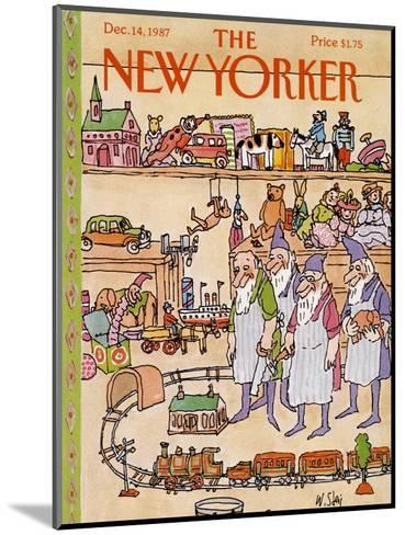 The New Yorker Cover - December 14, 1987-William Steig-Mounted Premium Giclee Print