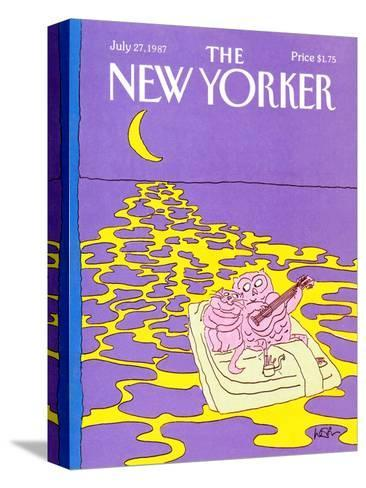 The New Yorker Cover - July 27, 1987-Arnie Levin-Stretched Canvas Print