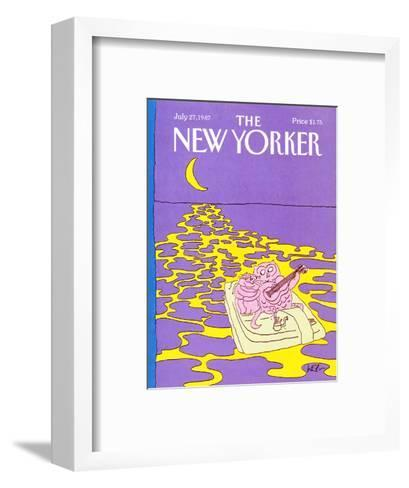 The New Yorker Cover - July 27, 1987-Arnie Levin-Framed Art Print