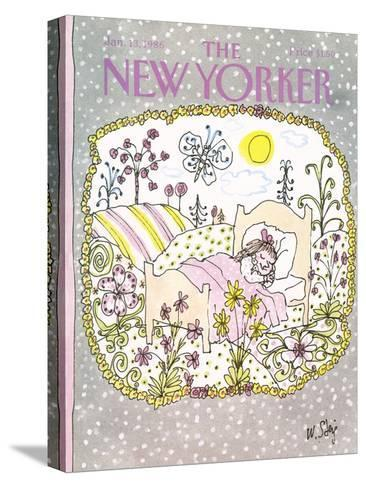 The New Yorker Cover - January 13, 1986-William Steig-Stretched Canvas Print