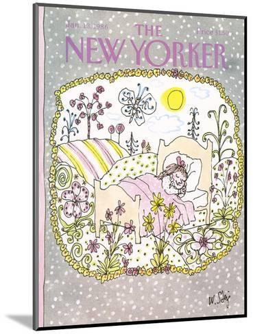 The New Yorker Cover - January 13, 1986-William Steig-Mounted Premium Giclee Print