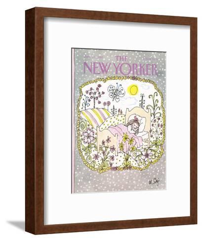 The New Yorker Cover - January 13, 1986-William Steig-Framed Art Print
