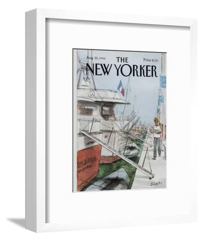 The New Yorker Cover - August 25, 1986-Charles Saxon-Framed Art Print
