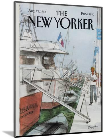 The New Yorker Cover - August 25, 1986-Charles Saxon-Mounted Premium Giclee Print