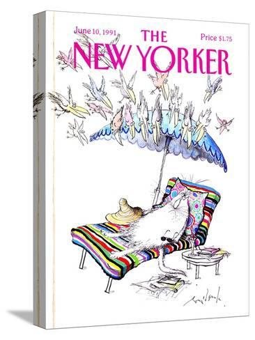 The New Yorker Cover - June 10, 1991-Ronald Searle-Stretched Canvas Print